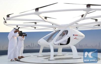 Self-flying taxi debuts in Dubai