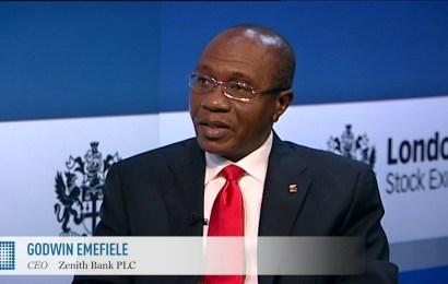 Emefiele at London Stock Exchange, explains highest ROI in Nigeria