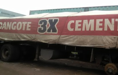 Customs impounds Dangote Cement truck, 9 others with 6,206 bags of rice