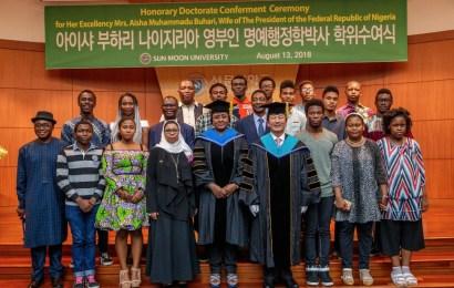 Aisha Buhari Dedicates Honorary Doctor of Philosophy To Women, Children