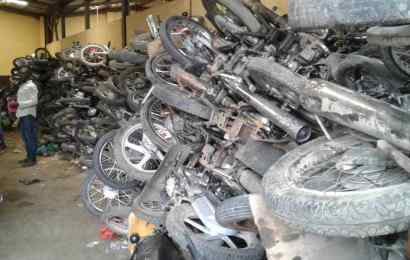 Lagos To Crush 2,500 Impounded Motorcycles