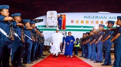 Buhari Arrives South Africa For Three-Day Visit