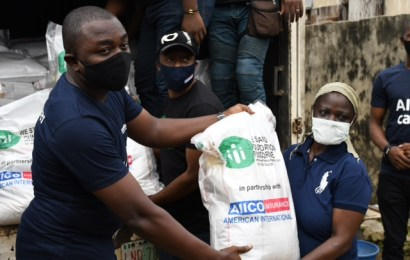 AIICO Insurance Partners NGO On Relief Packages For 300 Families