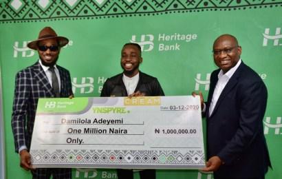 Heritage Bank Budgets N5b For Creative Industry As Winners Of Ynspyre Account Online Giveaway Get N1m