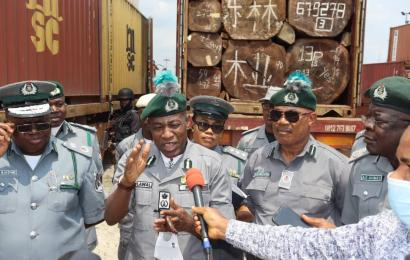 Customs Intercepts Six Containers Of Unprocessed Timber, Arrests Two In Rivers