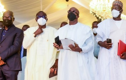 Obaseki, Sanwo-Olu, Abiodun, Others Pay Last Respects To Late Captain Hosa Okunbo