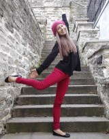 fun with pink beret