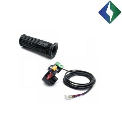 Lijeva ručka volana s prekidačima za svjetlo, žmigavce i trubu za CityCoco električni skuter.