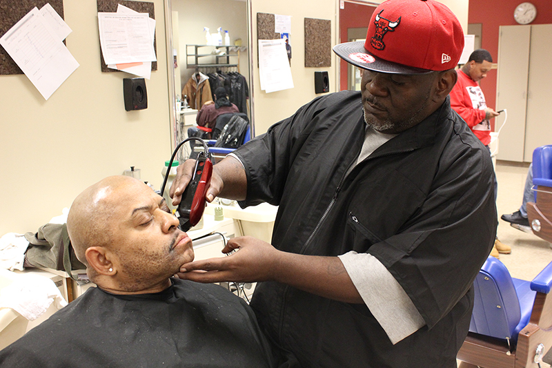 Barbering graduated five students last school year. (Photo: Gabe Hewitt/City College News)