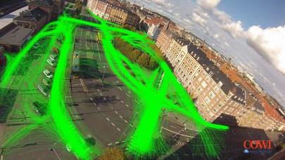 Figur 2. Bevægelsesmønstre for fodgængerne.
