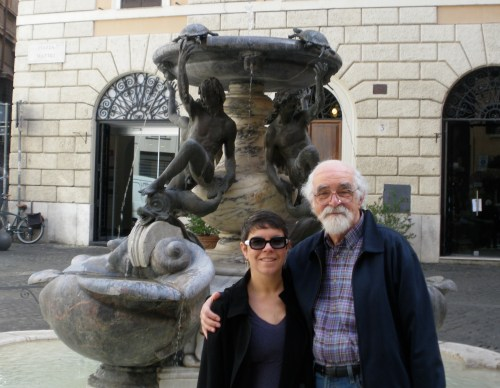 Lessons Moms Learned: Author Tovah Klein and her father Bob in Rome.