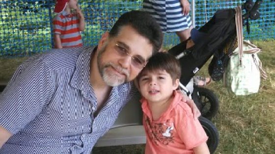 Jason Grant of the NYC Dads Group and his son.