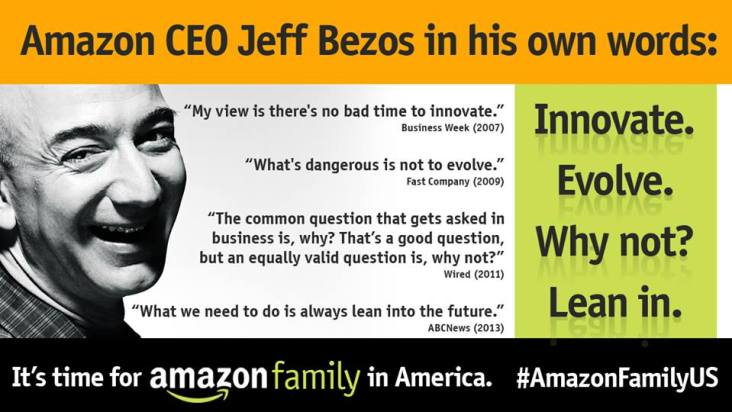 Amazon Mom Jeff Bezos innovate quotes