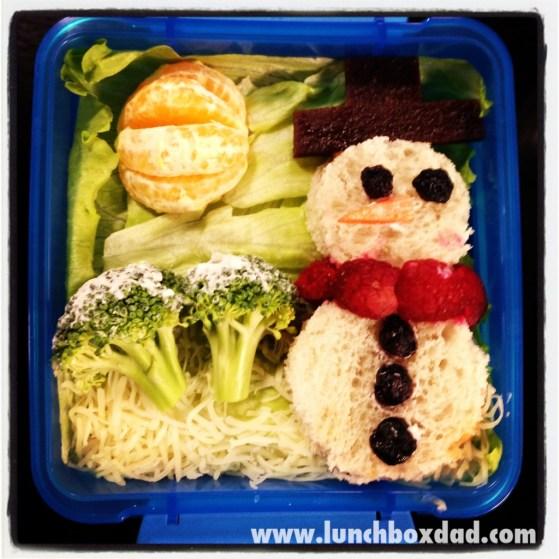 winter snowman lunch
