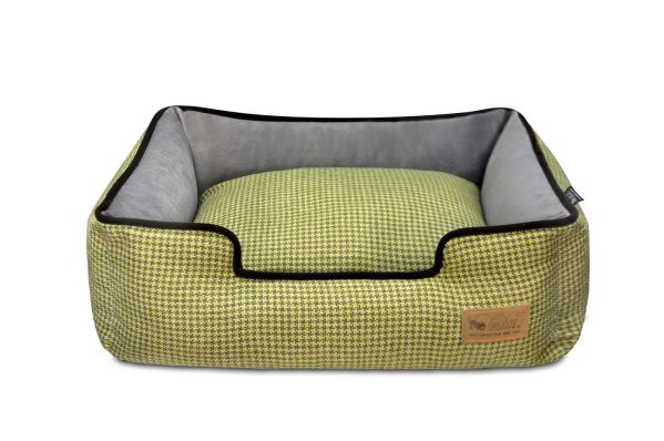 Houndstooth Lounge Bed Yellow