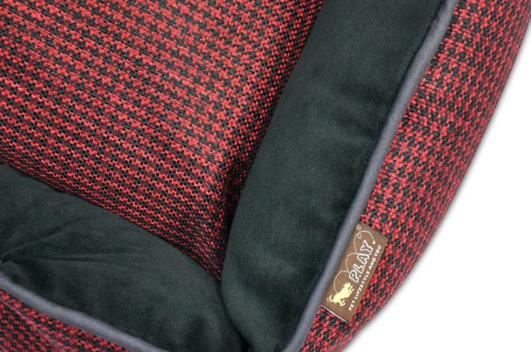 Houndstooth Lounge Bed Red