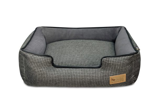 Houndstooth Lounge Bed Gray