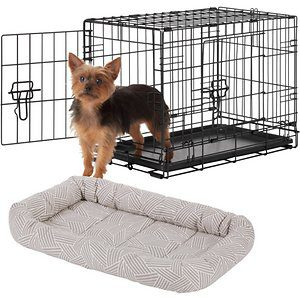 Double Door Collapsible Wire Dog Crate