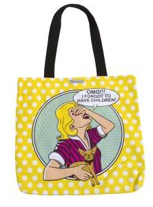 DIG yellow tote bag