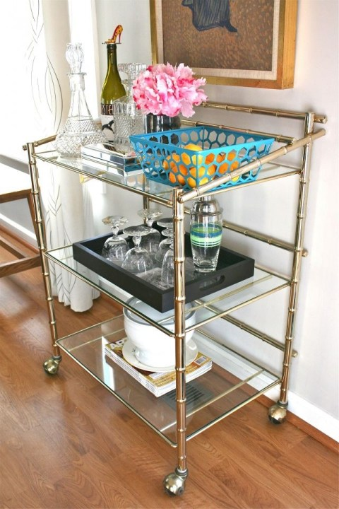 Dream Green DIY Vintage Bar Cart