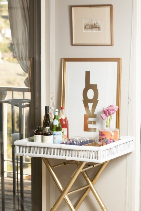 Jennifer Margolin Bar Cart Makeover