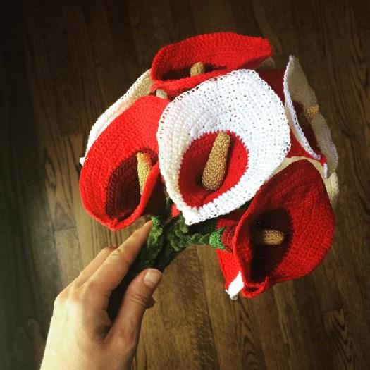 Crochet Pattern For Calla Lily Bouquet City Farmhouse Studio