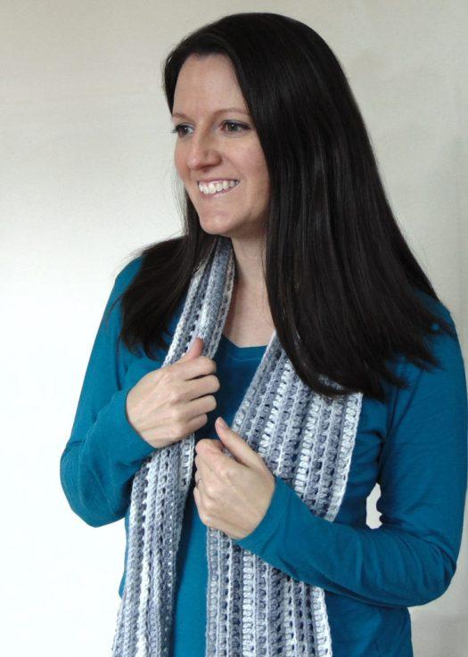 Modern Love Scarf free crochet pattern by www.CityFarmhouseStudio.com