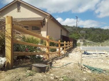 4' Tall Split Rail Cedar Fencing