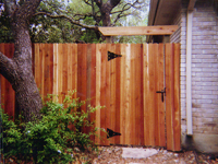Cedar Privacy Fencing Gate