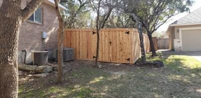 Cap & Trim Cedar Fence