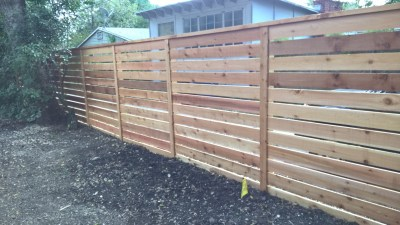 6' Tall Horizontal 1x6 Cedar Fencing