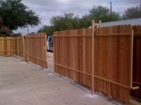 Double Sliding Track Gate Fencing