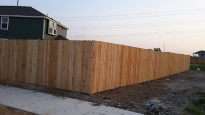 New Home Builder Fence