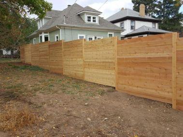 Horizontal Cedar Fencing