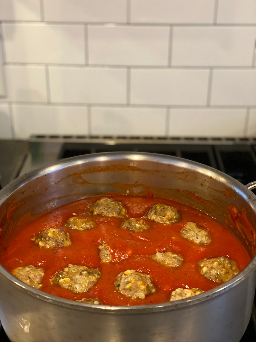 Mom's famous spaghetti and meatballs