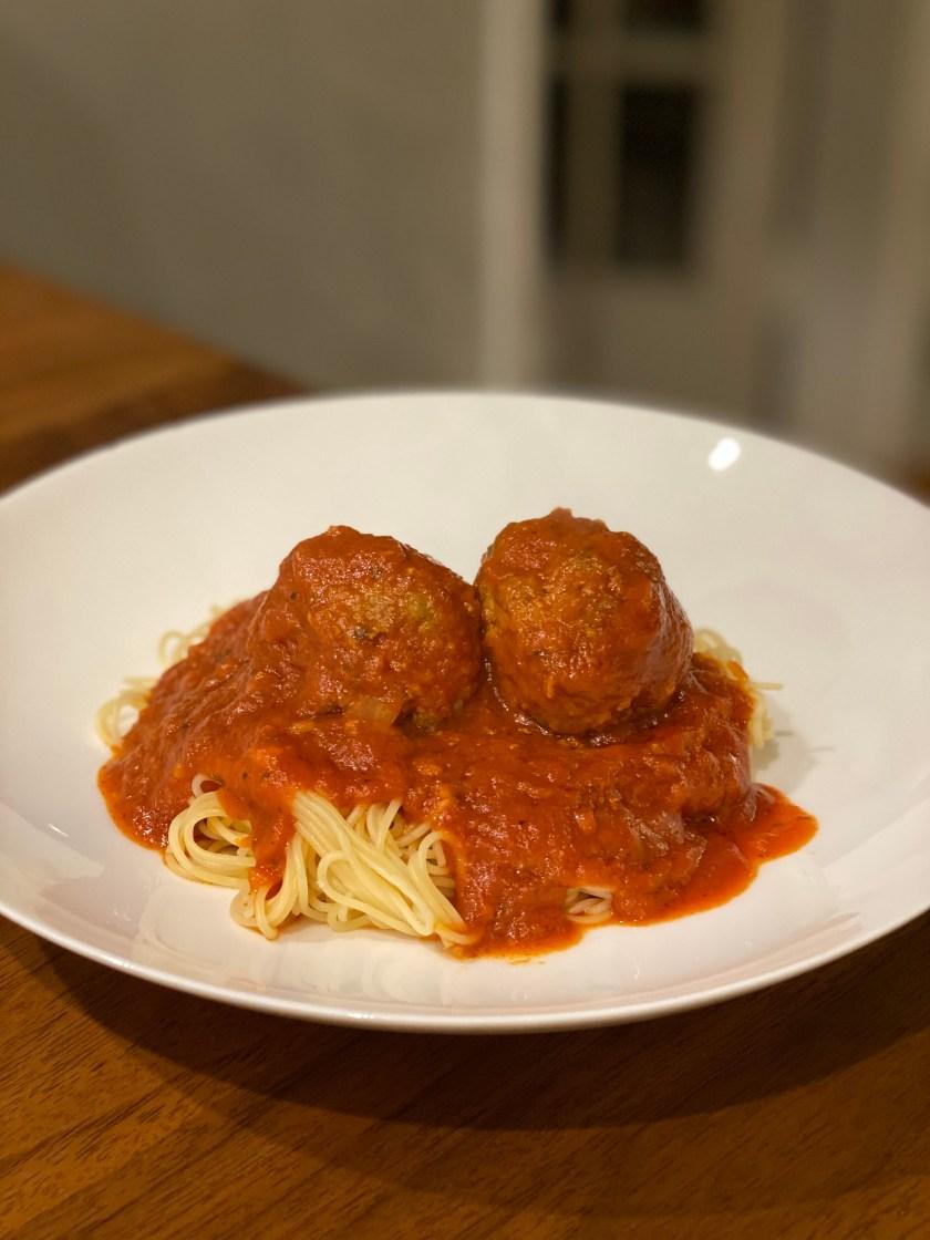 Mom's famous spaghetti and meatballs recipe. City Foodie Farm