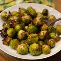 Maple Glazed Brussels Sprouts & Bacon