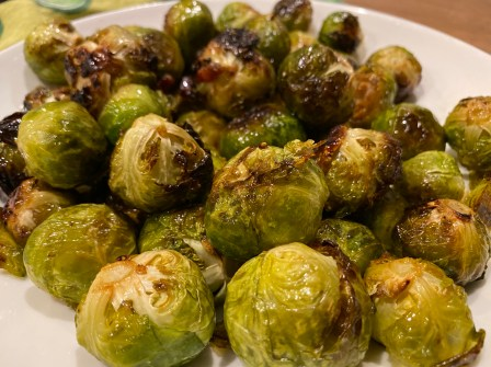 Maple Glazed Brussels Sprouts & Bacon City Foodie Farm