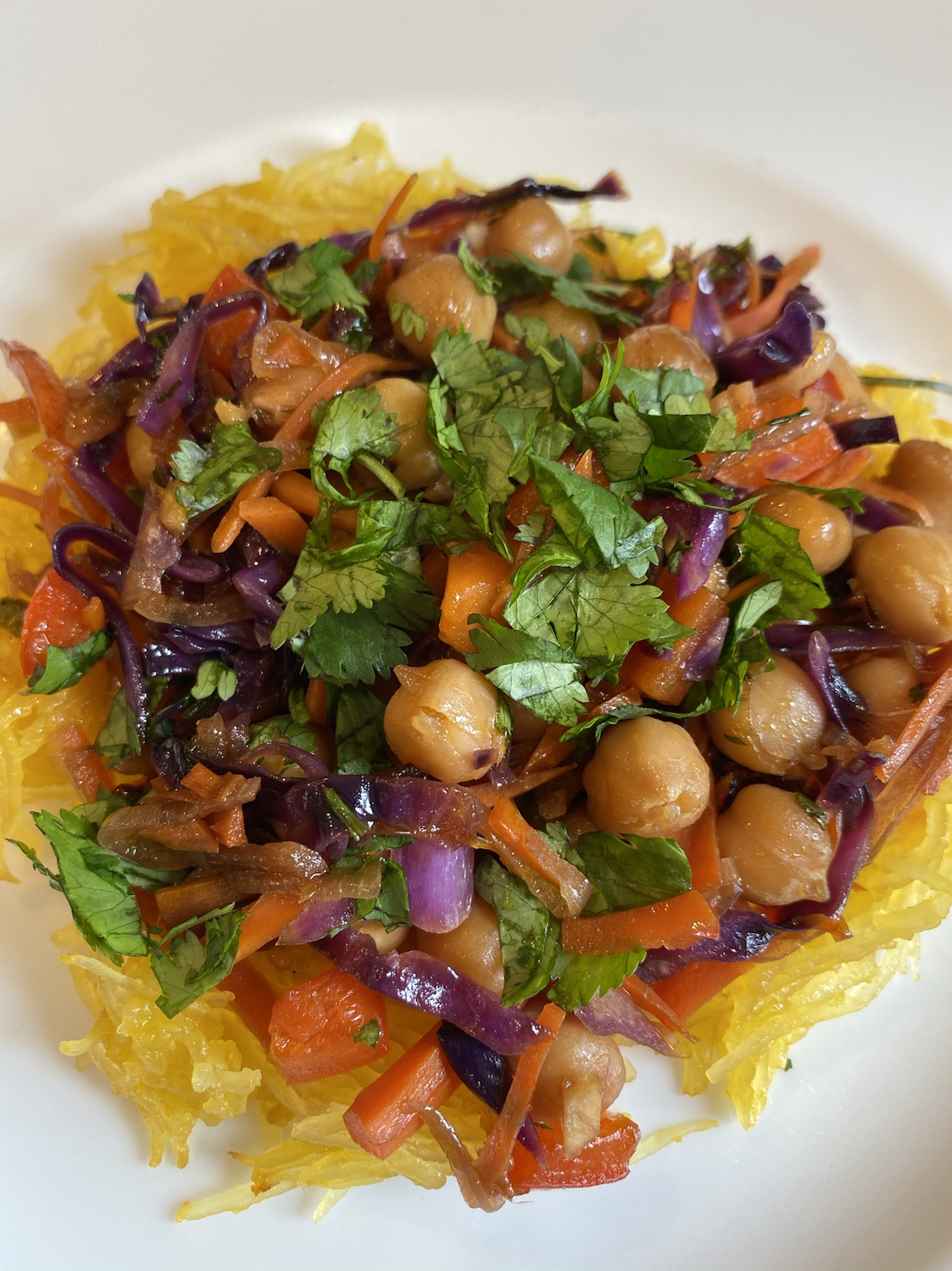 Roasted Spaghetti Squash Stir-Fry