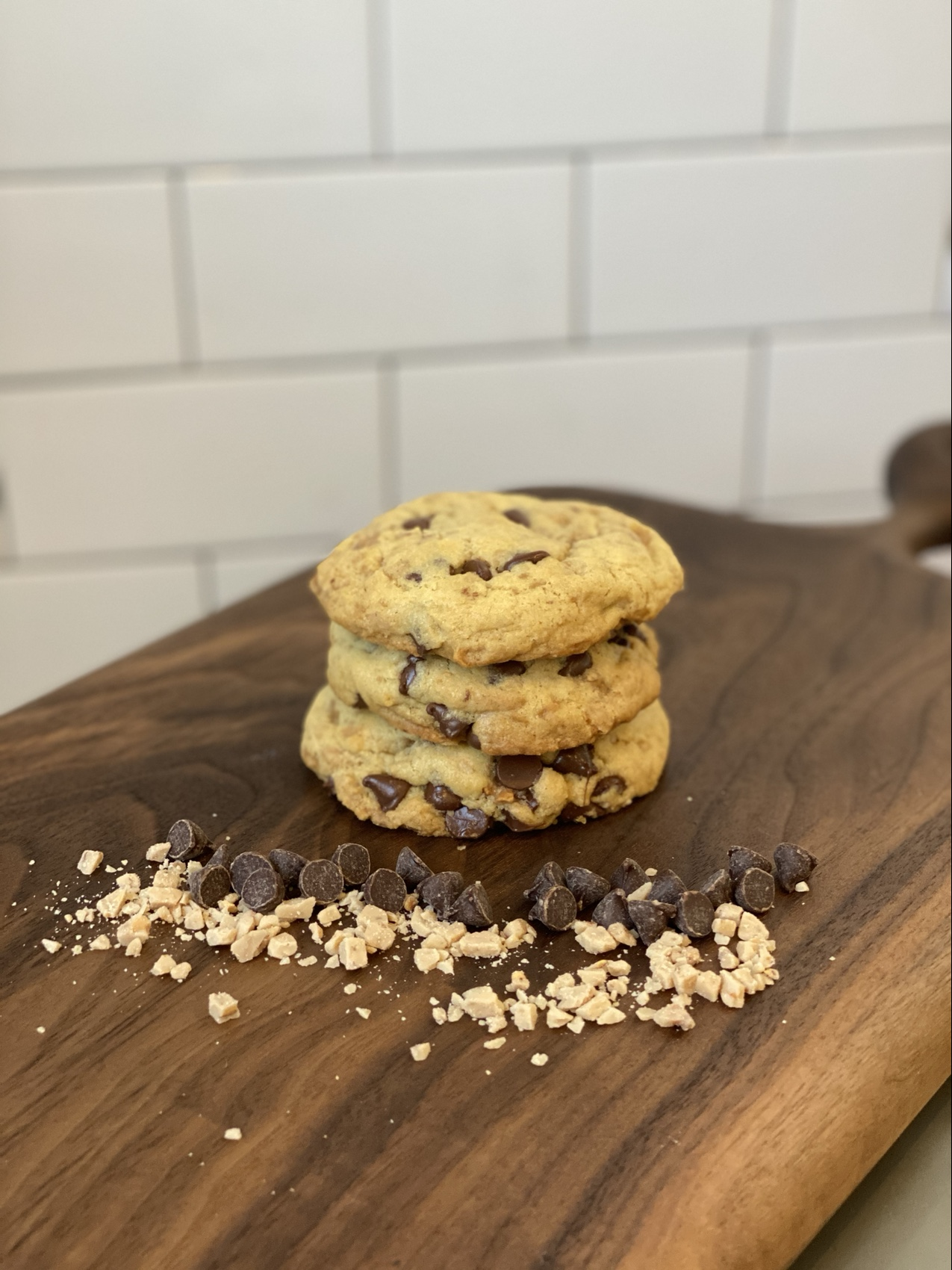 Chocolate chip and Toffee Cookies