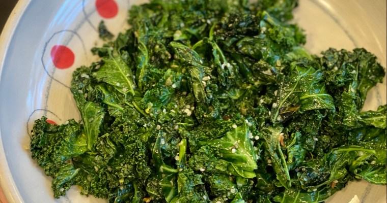 Kale with Lemon & Hemp Seeds