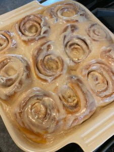 Frosted cinnamon rolls- Quick Cinnamon Rolls -City Foodie Farm