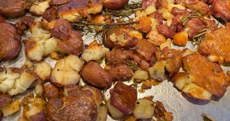 Crispy Smashed Red Potatoes