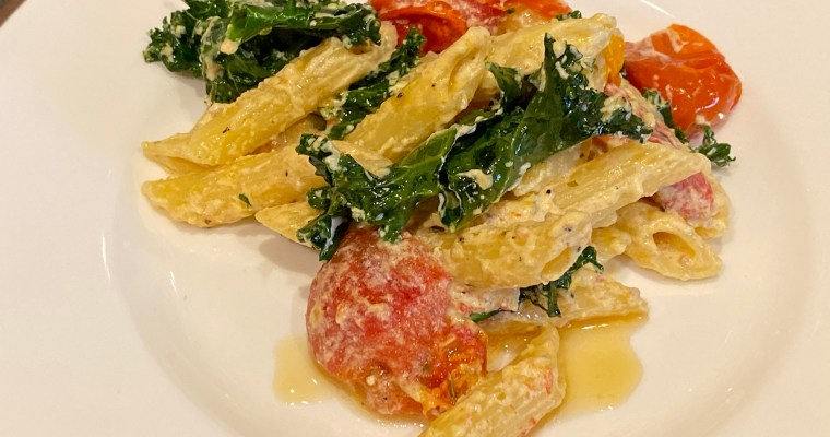 Baked Goat Cheese Pasta Dish