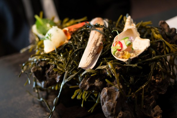 Course 3: Oyster Leaf, King Crab, Lobster, Razor Clam