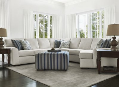 City Furniture Austin White Fabric Small Right Cuddler