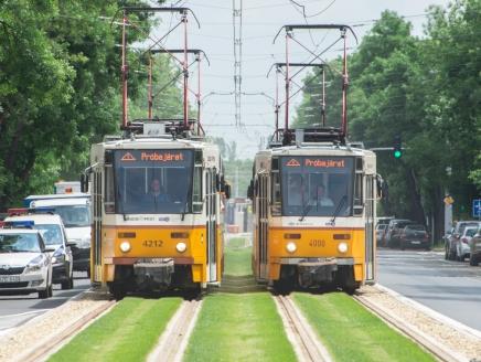 Elkezdődtek az 1-es villamos meghosszabbított szakaszának július közepi átadását megelőző tesztek