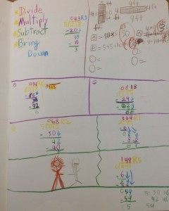 Long Division with Color Coded Steps