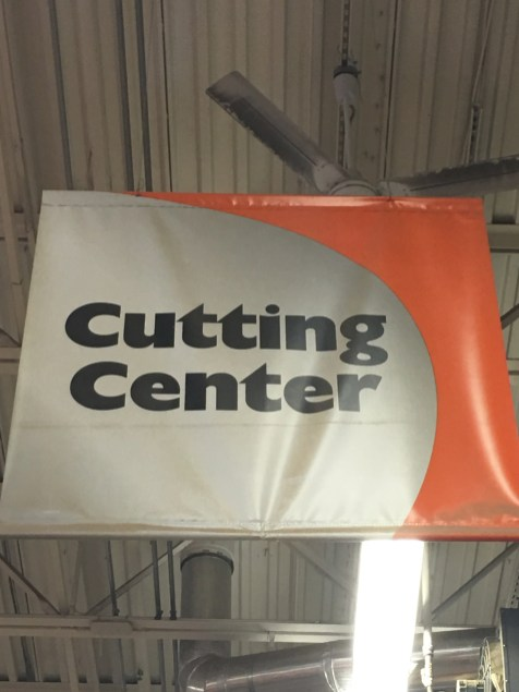 Home Depot Cutting Center