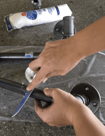Cleaning Plumbers Pipe